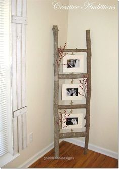 Simple And Easy DIY Home Decorating Ideas Decozilla. cute do do with my old ladder that I now have blankets hanging on. Diy Home Decor Projects, Easy Home Decor, Home Crafts, Decor Ideas, Decorating Ideas, Diy Ideas, Easy Crafts, Garden Projects, Home Craft Ideas