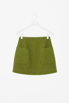 A-line wool skirt - Olive Green - Skirts - COS GB