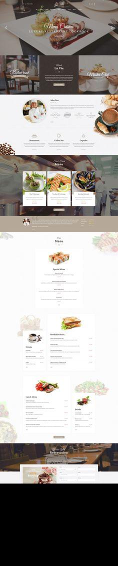 Lavie Restaurant - Bar & Cafe Responsive WordPress Theme • Download ↓