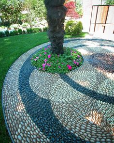 ✔ 45 beautiful front yard garden landscaping ideas with rock 37 Garden Paths, Garden Art, Gravel Garden, Stone Backyard, Backyard Patio, Modern Backyard, Design Jardin, Pebble Mosaic, Stone Mosaic