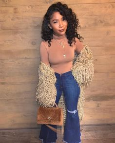 Outfit uploaded by Jasmine on We Heart It Cute Casual Outfits, Stylish Outfits, Fashion Outfits, Fashion Ideas, Fall Winter Outfits, Autumn Winter Fashion, Black Girl Fashion, Fashion Looks, Trends