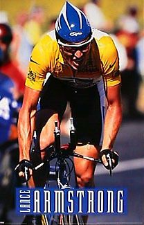 Rare Lance Armstrong TOUR DE FRANCE RACING ACTION 1999 24x36 Cycling Poster - Sold for $19.99 Oct 2013