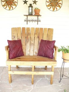 Reclaimed wood pallet furniture by DebbiesDLights on Etsy, $250.00