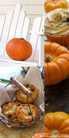 Vegan Pumpkin Whipped Cream on FamilyFreshCooking.com © MarlaMeridith.com { #holiday #Halloween #fall }