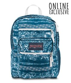 JanSport Big Student Classics Series Backpack - Blue >> Additional details at the pin image, click it : Travel Backpack Mochila Jansport, Jansport Backpack, Backpack Purse, Fashion Backpack, Mini Backpack, Travel Backpack, Cute Backpacks For School, Pretty Backpacks, Teen Backpacks