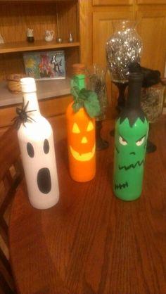 Diy Painted wine bottles