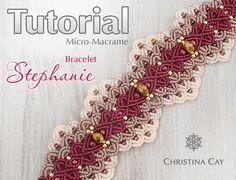 TUTORIAL PDF Micro-Macrame bracelet Stephanie от ChristinaCay