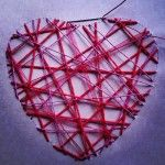 Varios cordeles y lazos #manualidad #romántica #corazón de hilos