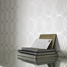 Darcy White Wallpaper - Circle Wall Coverings by Graham & Brown | Graham & Brown