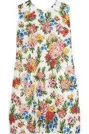 Presley floral-print gazar mini dress