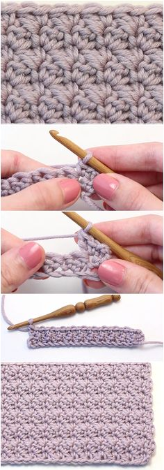 Crochet Modified Sedge Stitch – Easy Tutorial + Free Pattern