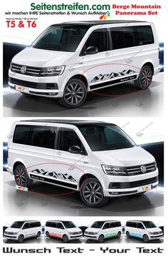 VW Bus T5 T6 Outdoor Berge Mountain Seitenstreifen Aufkleber Set mit WUNSCH TEXT in Auto & Motorrad: Teile, Auto-Tuning & -Styling, Karosserie & Exterieur Styling | eBay!
