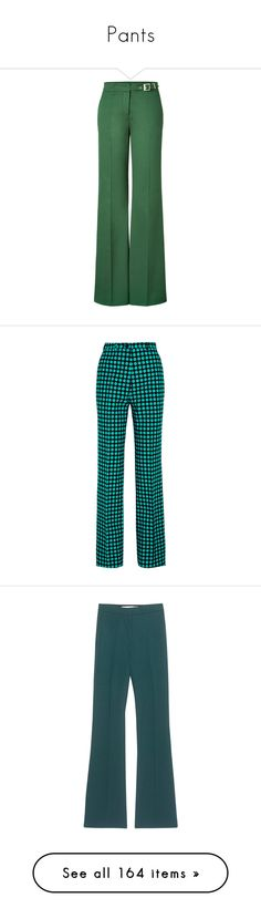 """""""Pants"""" by lorika-borika on Polyvore featuring pants, bottoms, trousers, pantalones, calça, stretch pants, stretchy pants, green pants, wide leg pants и green trousers"""