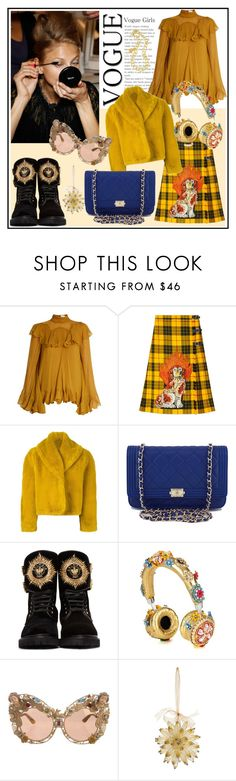 """Peace ♥♥♥"" by marthalux ❤ liked on Polyvore featuring Chloé, Gucci, Jean-Paul Gaultier, Chanel, Balmain, Dolce&Gabbana, Kim Seybert and Yves Saint Laurent"