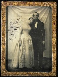 How sweet is this? Eduard Biewend and his Bride, Feodore  7 July 1842