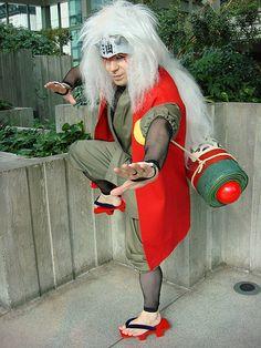Jiraiya battle stance. Even though he's an old perv, he still whips butt!
