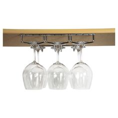 Chrome-plated hanging stemware rack. Holds 9 glasses.   Product: Stemware rackConstruction Material: Metal