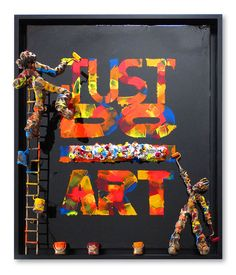 Sculptural painter: Large-scaled mixed media works that combine sculptures within paintings are unquestionably signature to Saint Maxent. Contemporary Art, Saints, Sculptures, Create, Painting, Character, Inspiration, How To Paint, Painted Canvas