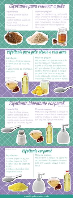 Esfoliação para a pele ficar linda Beauty Make Up, Beauty Care, Diy Beauty, Beauty Skin, Health And Beauty, Beauty Hacks, Face Care, Body Care, Skin Care