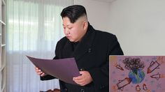 Wistful Kim Jong-Un Stumbles Onto Childhood Drawings He Made Of Nuclear Attacks On West #humor #funny #lol #comedy #chiste #fun #chistes #meme