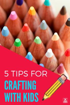 Making crafting with your kids easy with these simple tips. #crafting #crafts #kidcrafts