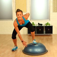 -- hmm, I've never tried using the BOSU before, I'd probably look histartical but hey, I'm gonna try it. Work Your Entire Body With These 5 BOSU Moves