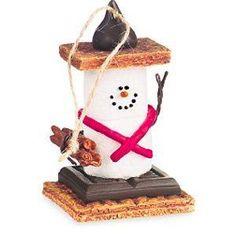 S/'mores Original Campfire Bowl Super Cute Snowman GREAT Christmas Gift