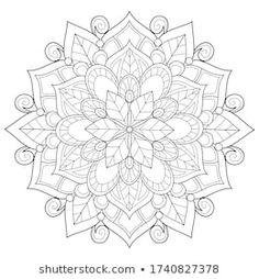 Cartera de fotos e imágenes de stock de Nonuzza | Shutterstock Adult Coloring, Coloring Books, Coloring Pages, Mandala Art, 2 Colours, Background Images, Vector Free, Royalty Free Stock Photos, Image Vector