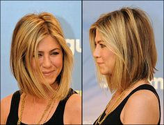 Blond shoulder-length hair