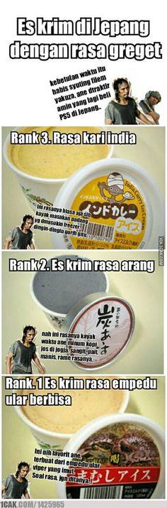 Maddog beli es krim di Jepang..