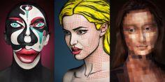 Desafio Criativo - Sua dose diária de inspiração e criatividade!: '2D or Not 2D' ::: Confira Esta Série de Impressionantes Pinturas Faciais