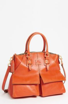 Free shipping and returns on Dooney & Bourke 'Clayton' Satchel at Nordstrom.com. A timeless, tailored satchel crafted from refined Italian leather features prep-style flap pockets. A top-handle silhouette provides polish, while an optional strap makes for easy hands-free carry. Natural leather texture varies from piece to piece; your satchel may have a smoother or more densely pebbled appearance than shown.