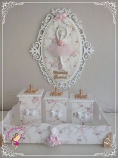 Bandeja Flavia Mais Decoupage Box, Decoupage Vintage, Kit Bebe, Ballerina Birthday, Baby Kit, Shabby Chic Pink, Dream Baby, Pretty Box, Rose Art
