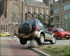 Now this does take skill... I could try all day and not achieve this parking job.