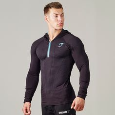 Gymshark Onyx Seamless Hooded Top - Black - New Releases - Featured - Mens