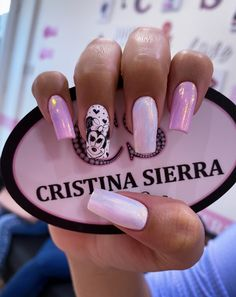 Nail Spa, Nail Designs, Sierra, Minnie Mouse, French, Instagram, Short Nail Manicure, Nail Manicure, Disney Nails Art
