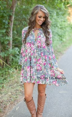 85a336015d The Pink Lily Boutique - Floral of the Story Dress