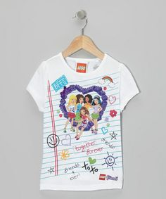 Take a look at this White Notebook LEGO Friends Tee - Girls by LEGO on #zulily today!