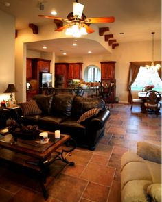 Family Room Brown Leather Sofa Design, Pictures, Remodel, Decor and Ideas - page 108 Home Room Design, Living Room Designs, Living Room Decor, Living Spaces, House Design, Living Rooms, Family Rooms, Garden Design, Leather Furniture