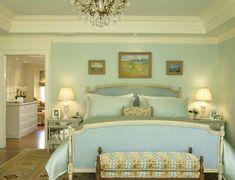pure light blue bedroom