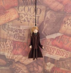 Professor Lupin Clothespin Doll Ornament by LittleParade on Etsy
