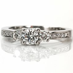 Round Royal Three Stone - Knox Jewelers - Minneapolis Minnesota - Three Stone Engagement Rings - Large Image