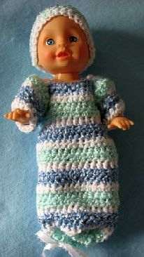 9-Inch Baby Doll Sweet Pea Outfit Free Crochet Pattern