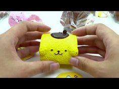 cute Pompompurin yellow roll cake squishy for bag - Food Squishies - Squishies - kawaii shop modeS4u