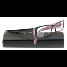 Prada Eyeglasses Prada eyeglasses New and Authentic Black and Lilac frame Size 53-16-135 Includes original case Prada Accessories Glasses