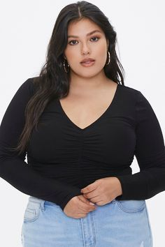 Forever 21 Top Affordable Tops reasonablyrebecca Tops Online Shopping, Girls Fall Outfits, Forever 21 Plus, Plus Size Girls, Curves Clothing, Outfit Combinations, Polished Look, Affordable Clothes, Long Sleeve Tops