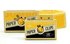 Great office supply packaging by designer Ryan Raschbaum.