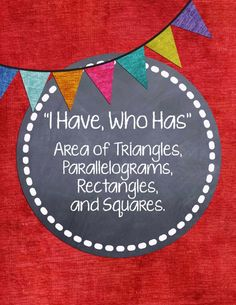 Your class will LOVE this game! Finding the area of triangles and quadrilaterals. A refreshing change from the usual test prep! Math Teacher, Math Classroom, Teaching Math, Teacher Stuff, Teaching Ideas, Classroom Ideas, Sixth Grade Math, Fourth Grade Math, Third Grade