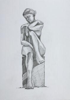 2016-06-13 Beeld Vrouw opgetrokken Knie by Toine de Jong