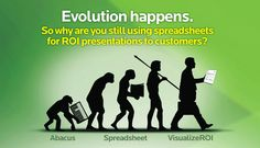 """""""VisualizeROI provides custom ROI calculators and ROI tools that span the buyer's journey: from lead generation to post sale. Our Values, Evolution, Presentation, Shit Happens, Memes, Meme"""